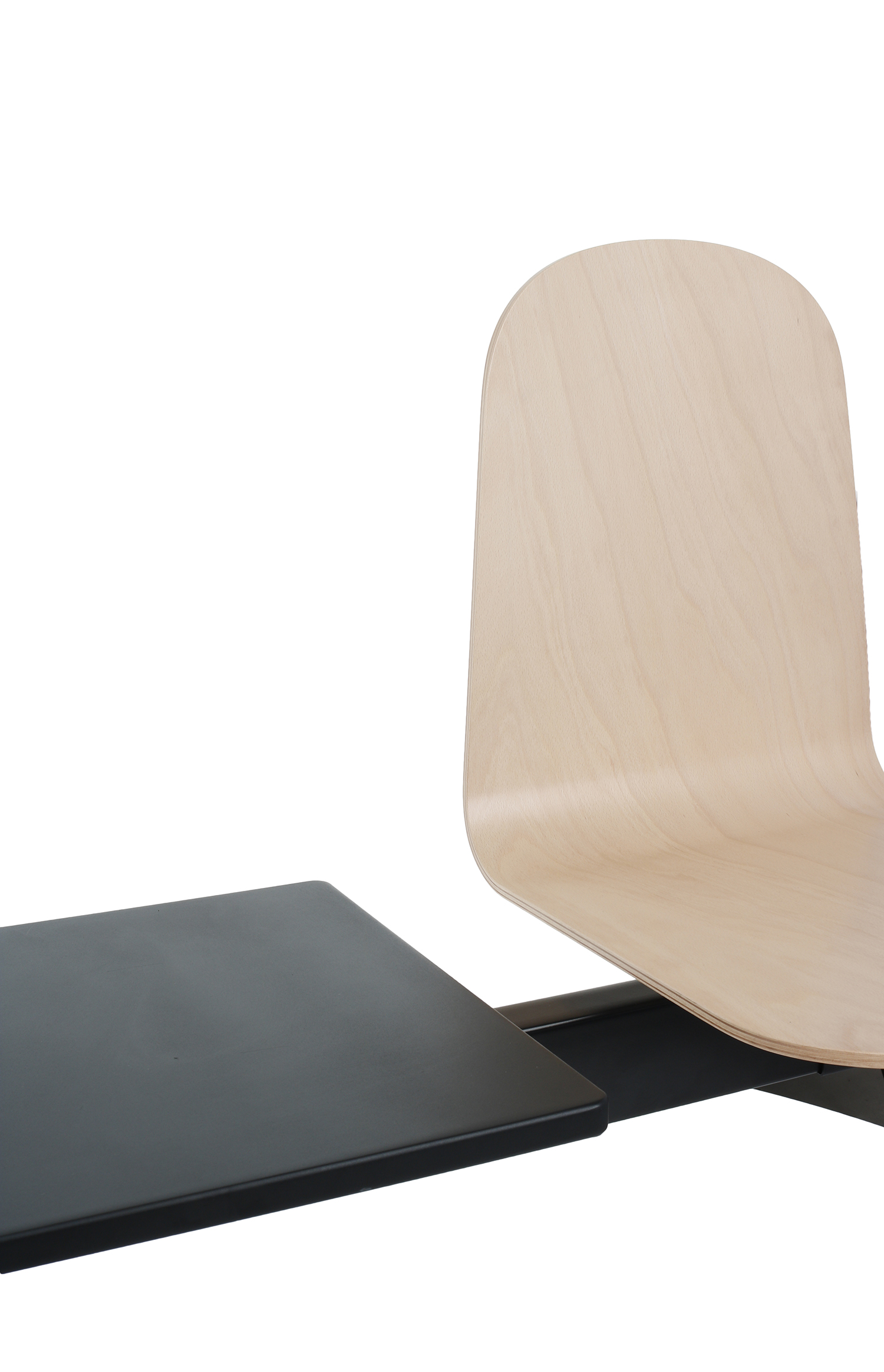 Ławka Malmo Wood 3T Black