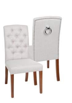 Krzesło Astoria Chesterfield 3 z pinezkami i kołatką
