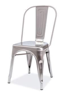Krzesło Loft stal szczotkowana