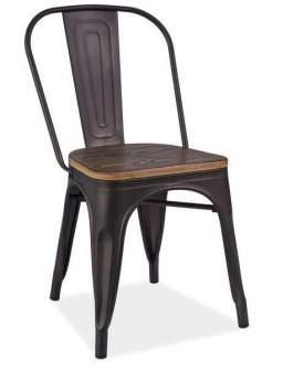 Krzesło Loft orzech grafit
