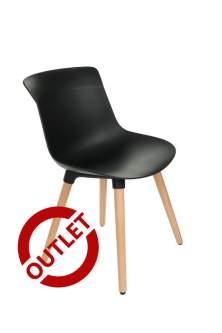 Krzesło Fox wood Black - OUTLET