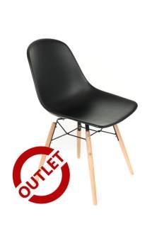 Krzesło Piano Czarne - OUTLET jedna sztuka