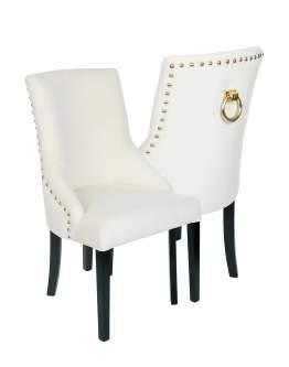 Krzesło Alexis 3, pinezki i kołatka
