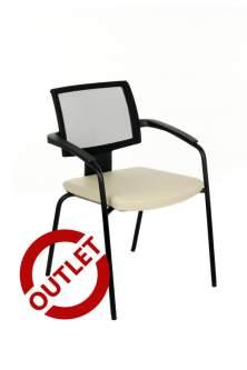 Krzesło Xenon Net 20H 2P czarny S18 - DWIE SZTUKI