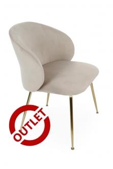 Krzesło Ganta Gold BEŻ - OUTLET