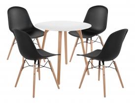 Zestaw Piano: stół + 4 krzesła
