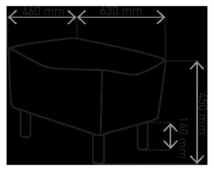 Podnóżek Muno wymiary